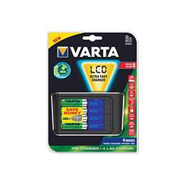 Chargeur de batterie varta ultra rapide livré avec batteries (photo)