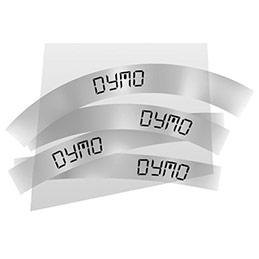 Ruban Dymo - 9 mm - noir sur transparent - pour LP150/250-LM350/450/210D/220P (photo)