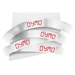 Ruban 9MM rouge sur blanc pour LP150/250-LM350/450/210D/220P (photo)