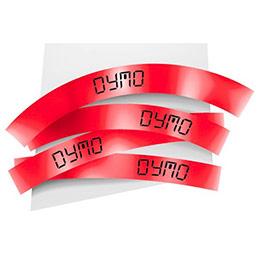 Ruban 19MM noir sur rouge pour labelmanager 350/450/300/400 (photo)