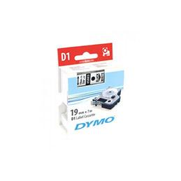 DYMO Ruban D1 - 19 mm noir sur blanc (photo)