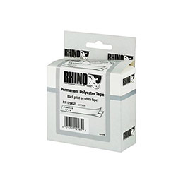 Ruban 24MM permanent blanc pour rhino 6000 (photo)