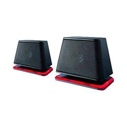 Fujitsu Soundsystem DS E2000 Air - Haut-parleurs - pour PC - 2.4 Watt (Totale) - noir, rouge cramoisi - pour ESPRIMO D556, D757, D757/E94, D956, D957, D957/E94, P556, P956/E94, P957, Q520, Q956, X956 (photo)