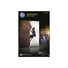 HP Advanced Glossy Photo Paper - brillant - 100 x 150 mm - 250 g/m² - 25 feuille(s) papier photo - pour Envy 50XX; Ink Tank Wireless 410; Officejet 52XX; Smart Tank Plus 55X, 571, 655 (photo)