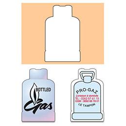 Magnet - bouteille de gaz - commerces (photo)