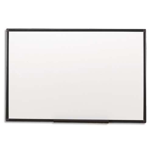 Tableau blanc mélaminé WStar cadre PVC - 90 x 120 cm