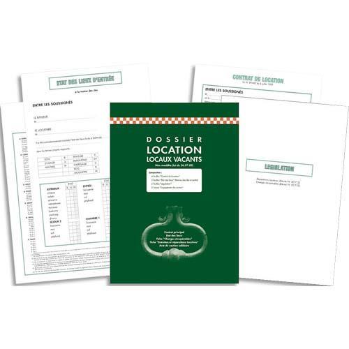 Kit contrat de location non meubl e exacompta 41e for Location non meublee