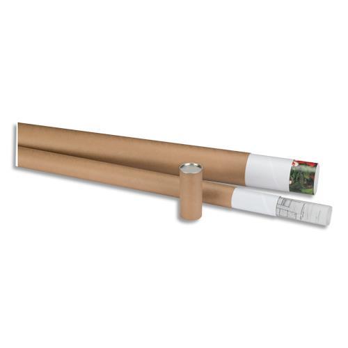 Tube dexpédition en carton Tubes en carton kraft Embouts en plastique blanc rentrant Le document est roulé et glissé dans le tube Tailles aux normes postales en vigueur Diamètre 5 cm Dimensions utiles 64 cm Poids du tube 152 g Tube dexpéditio