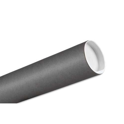 Tube dexpédition en carton gris Tubes en carton kraft coloris gris Embouts en plastique blanc rentrant Le document est roulé et glissé dans le tube Tailles aux normes postales en vigueur Diamètre 8 cm Longueur utile 65 cm Poids du tube 284 g