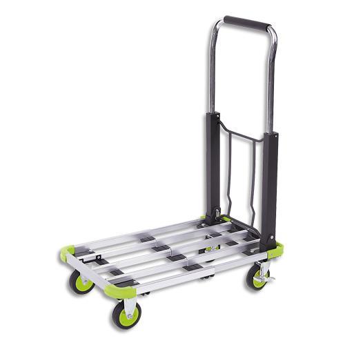 chariot pliable aluminium largeur 40 cm longueur 50 72 cm achat pas cher. Black Bedroom Furniture Sets. Home Design Ideas