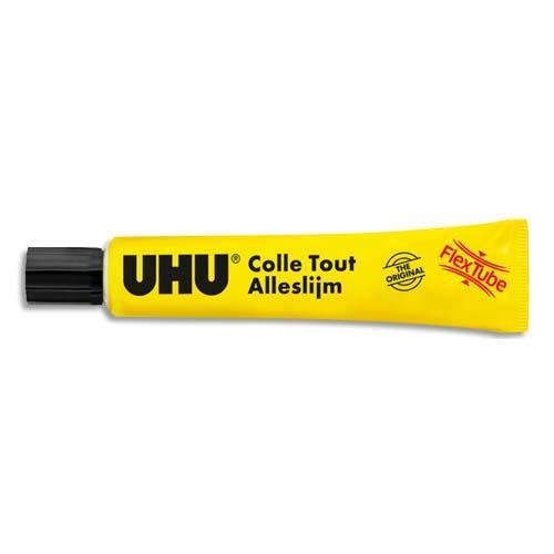 La célèbre colle multi matériaux UHU dans le tube révolutionnaire flexclean souple et increvable La technologie innovante du tube plastique flexclean pour un collage impeccable UHU flexclean colle de nombreux matériaux pour toutes les réparations à