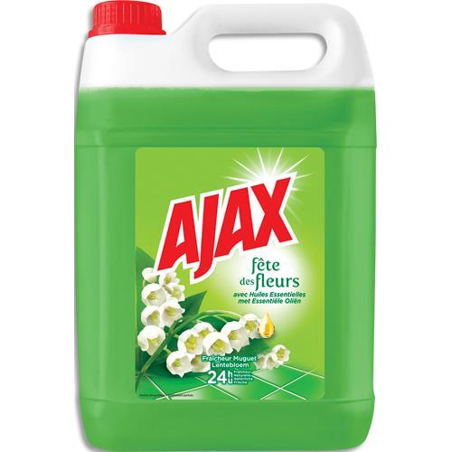 Bidon de 5 litres nettoyant AJAX parfum fleurs de printemps