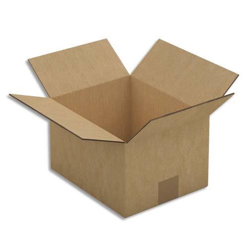 caisse carton brune double cannelure 25 x 15 x 20 cm lot de 15 achat pas cher. Black Bedroom Furniture Sets. Home Design Ideas