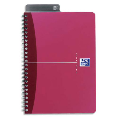 Cahier bureau oxford urban mix reliure spirales couverture polypro 180 pages petits - Cahier oxford office book ...