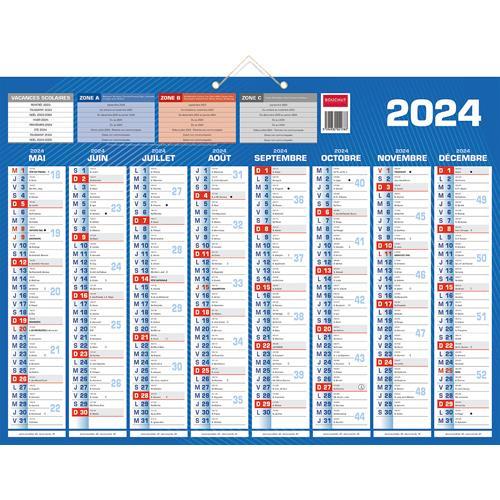 Calendrier 2021 mural septembre à décembre   8 mois par face