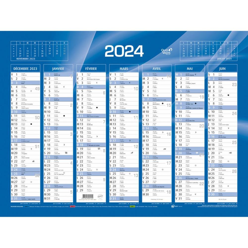 Calendrier 2021 mural   format: 55 x 40 cm   7 mois par face pas