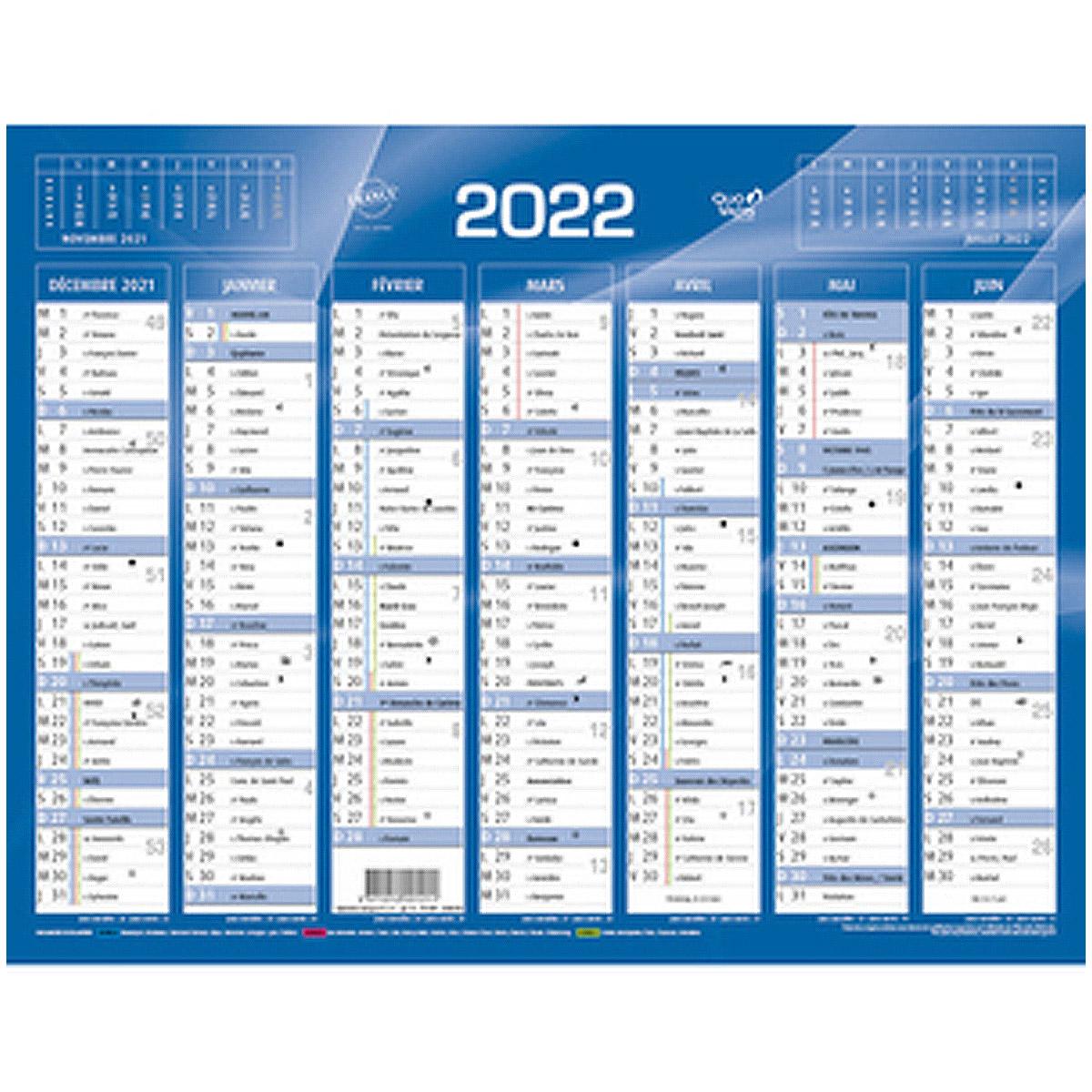 Calendrier Photo 2022 Pas Cher Calendrier 2022 mural   format: 55 x 40 cm   7 mois par face pas