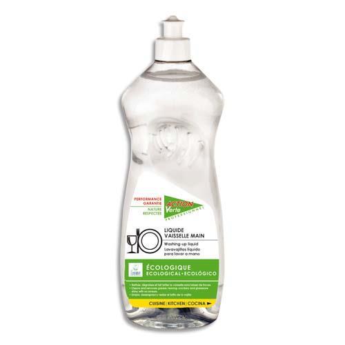 liquide vaisselle main action verte flacon de 1l achat pas cher. Black Bedroom Furniture Sets. Home Design Ideas