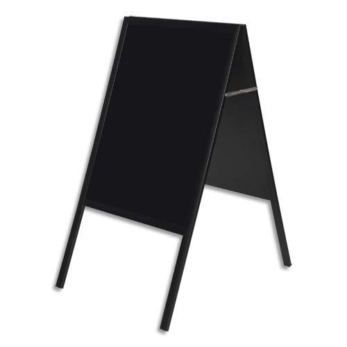 Chevalet Ardoise Bi Silque Noire Double Face 60x45 Cm Détails