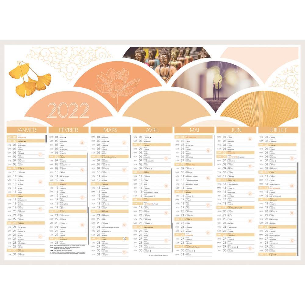 Calendrier Photo 2022 Pas Cher Calendrier bancaire Zen   40,5 x 55 cm   2022 pas cher   Welcome