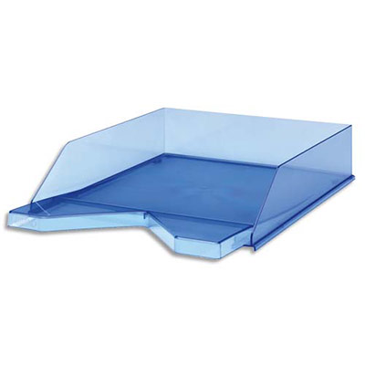 Corbeille courrier jalema silky touch bleu transparent - Corbeille courrier pas cher ...