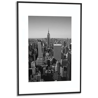cadre photo contour alu noir plaque en plexiglas format 42 x 59 cm achat pas cher. Black Bedroom Furniture Sets. Home Design Ideas