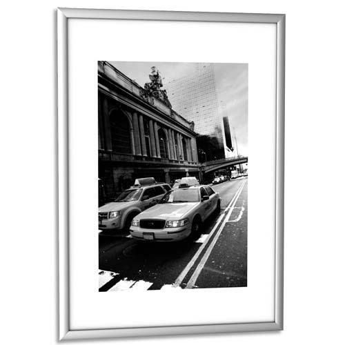 cadre photo contour alu argent plaque en plexiglas format 21 x 30 cm achat pas cher. Black Bedroom Furniture Sets. Home Design Ideas