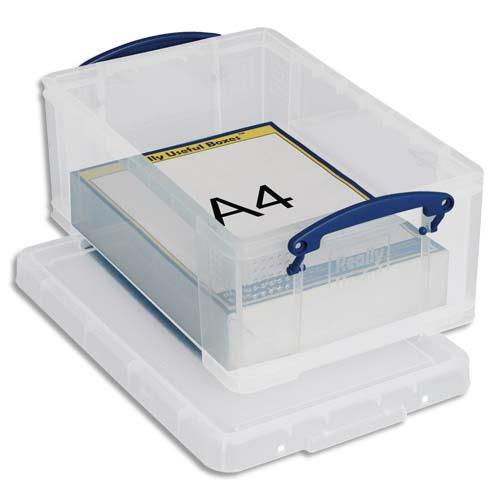 Bo te de rangement avec couvercle 9 l l39 5 x h15 5 x p25 5 cm transparent achat pas cher for Boire de rangement avec couvercle versailles