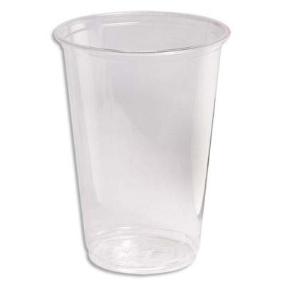 gobelets en plastique transparent cristal biodegradable 20 cl sachet de 100 achat pas cher. Black Bedroom Furniture Sets. Home Design Ideas