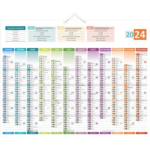 Calendrier Mural Grand Format.Calendrier 2020 Mural Format 43 X 55 Cm 12 Mois Sur 1 Face Carte De L Europe Au Verso Details