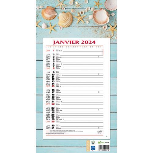Achat Calendrier 2021 Calendrier 2021 mensuel sur plaque   19 x 36 cm   thème zen