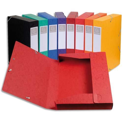 bo te de classement cartobox carte lustr e 7 10e dos 5 cm 24 x 32 cm coloris assortis. Black Bedroom Furniture Sets. Home Design Ideas