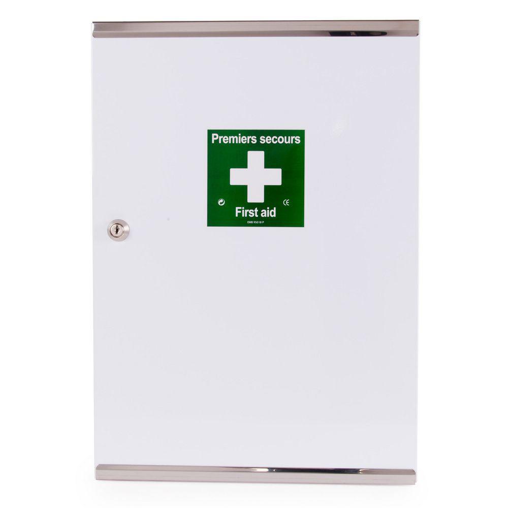 Armoire à pharmacie vide -1 porte double en métal - laquée ...