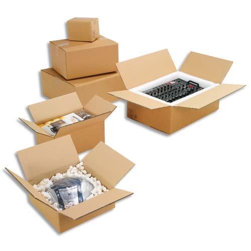 caisse carton brune simple cannelure 60 x 40 x 40 cm lot de 20 achat pas cher. Black Bedroom Furniture Sets. Home Design Ideas