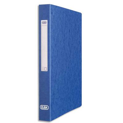 classeur elba en carte lustr e 7 10e 2 anneaux diam 25 mm format a4 bleu achat pas cher. Black Bedroom Furniture Sets. Home Design Ideas