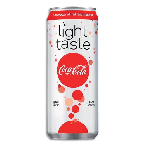 coca cola light soda sans sucre canette de 33 cl achat pas cher. Black Bedroom Furniture Sets. Home Design Ideas