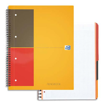 Cahier oxford filingbook reliure spirales a4 200 pages petits carreaux papier 90g - Cahier oxford office book ...