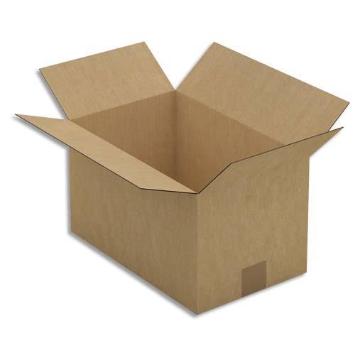 caisse carton brune simple cannelure 35 x 20 x 22 cm. Black Bedroom Furniture Sets. Home Design Ideas