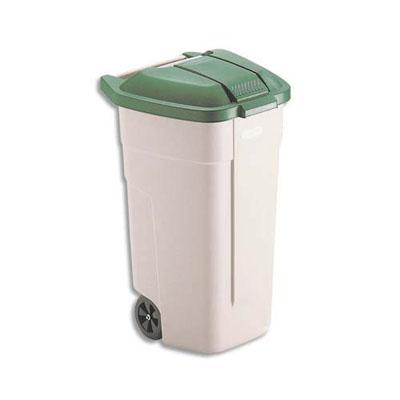 Couvercle vert pour conteneur carr roues rubbermaid 100 for Conteneur moins cher