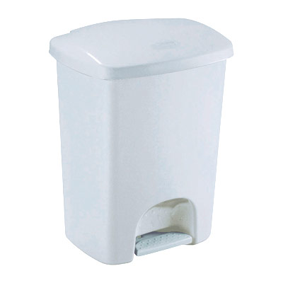 poubelle p dale luna de rubbermaid en plastique blanc 15 litres 31 2 x 39 x 31 4 cm. Black Bedroom Furniture Sets. Home Design Ideas