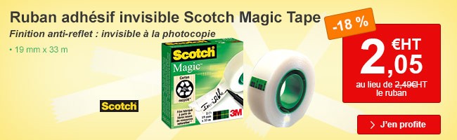 Ruban adh�sif Scotch Magic Tape